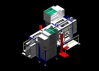 Cabine de pintura eletrostática automática
