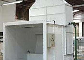 Cabine de pintura via úmida